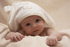 Boy after bath Royalty Free Stock Photos