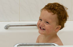Boy in bath Royalty Free Stock Photos
