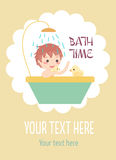 Boy bath with ducks Stock Photos