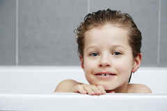 Boy in bath Royalty Free Stock Images