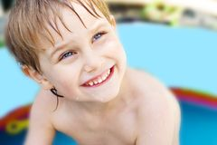 The boy bathes Royalty Free Stock Photography