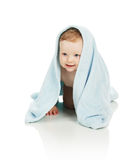 The boy after bathing Royalty Free Stock Image