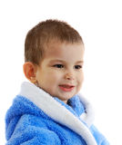 The boy after bathing. In a dressing gown Royalty Free Stock Photos