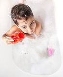Boy in the bathroom Royalty Free Stock Images