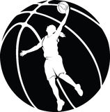 Basketball Girl Layup  Royalty Free Stock Photo