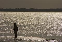Boy on Beach Stock Image