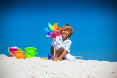 Boy on beach Royalty Free Stock Photo