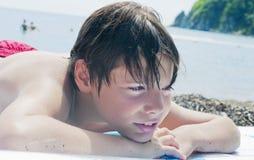 The boy on a beach Royalty Free Stock Photos