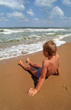 Boy on a beach Royalty Free Stock Photos