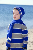 Boy at beach Royalty Free Stock Photos