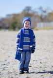 Boy at beach Stock Image