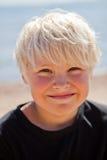 Boy on the beach Royalty Free Stock Photo