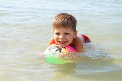 The boy at the beach Stock Photography