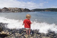Boy at the Beach Stock Image