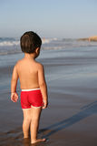 Boy at the beach. Boy playing at the beach stock photo