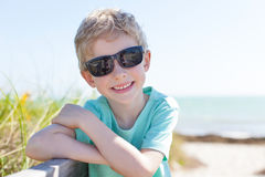 Boy at the beach Stock Images
