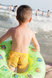 Boy on beach Stock Image