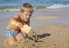 Boy beach royalty free stock image