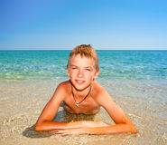 Boy on a beach Royalty Free Stock Photography
