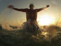 Boy on the beach Stock Image