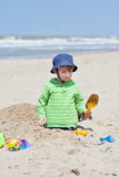 Boy on a beach Royalty Free Stock Image
