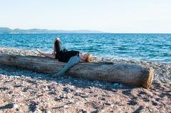 Boy on a beach Stock Photography