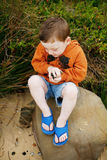 Boy at the Beach Stock Photo