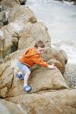 Boy at the Beach Stock Photos