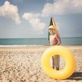 The boy on the beach Stock Photo
