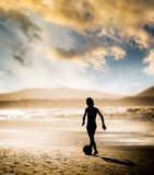 Boy on the beach Royalty Free Stock Photo
