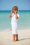 Boy on the beach Stock Photos