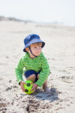 Boy on a beach Stock Photography