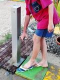 Boy at beach Stock Photo