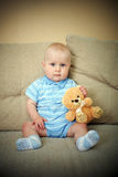 Boy with bear Royalty Free Stock Image