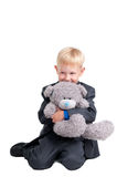 Boy with a Bear Royalty Free Stock Photos