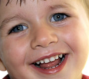 Boy with a beautiful smile Stock Photos
