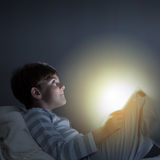 Boy in bed Royalty Free Stock Photo