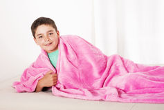 Boy in bed Royalty Free Stock Photos