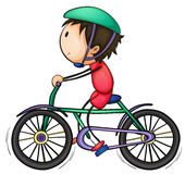 Boy and bicycle Royalty Free Stock Image