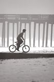 Boy, Bicycle, Beach Stock Photography