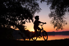 Boy on the bicycle - bmx bicycle Stock Photo