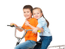 Boy on bicycle Stock Photo