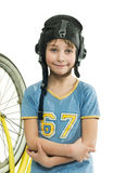 Boy with bicycle Stock Photos