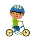 Boy on a bicycle Royalty Free Stock Photography