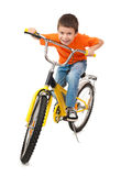 Boy on bicycle Royalty Free Stock Photography