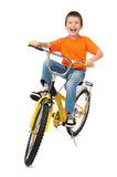 Boy on bicycle Royalty Free Stock Image