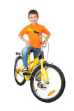 Boy on bicycle Royalty Free Stock Photos