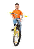 Boy on bicycle Stock Image
