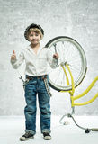 Boy with bicycle Royalty Free Stock Photos