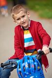 Boy on the bicycle at Park Royalty Free Stock Photography